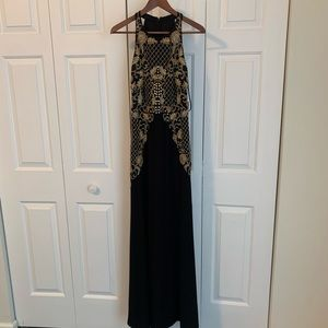NWT Adrianna Papell black embellished dress gown